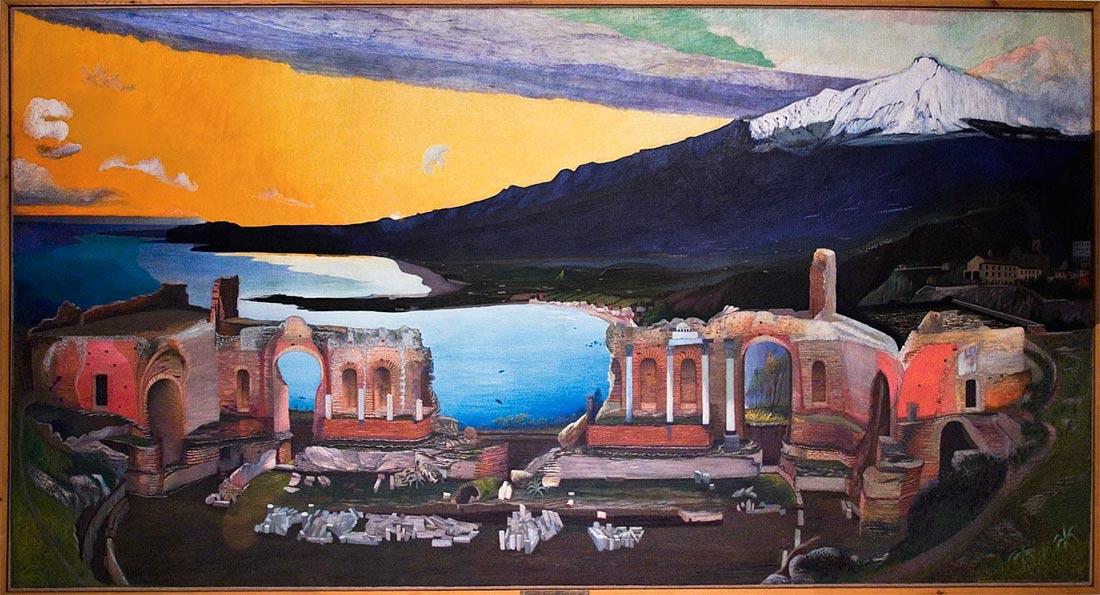 Taorminai színház csontváry